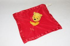 Winnie the Pooh Just Play Plush Security Blanket Lovey Red Furry Disney Baby  #DisneyBaby
