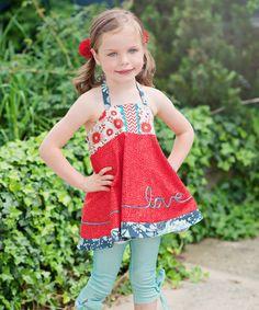 ! Red Love Letters Halter Top - Toddler & Girls