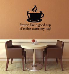 Prayer, like a good cup of coffee, starts my day!