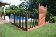 Delectable Modern Fencing Steel Ideas 8 Great Tips AND Tricks: Pool Fence Deck brick fence how t Brick Fence, Concrete Fence, Front Yard Fence, Farm Fence, Pool Fence, Backyard Fences, Garden Fencing, Fenced In Yard, Fence Gate