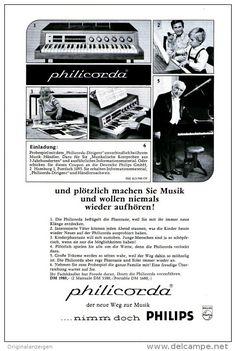 Original-Werbung/Anzeige 1967 - 1/1 SEITE - PHILIPS PHILICORDIA  - ca. 160 x 230 mm