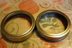 Make goggles from jar lids.