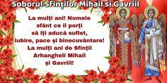 Felicitari de Sfintii Mihail si Gavril - Soborul Sfinților Mihail si Gavriil - mesajeurarifelicitari.com