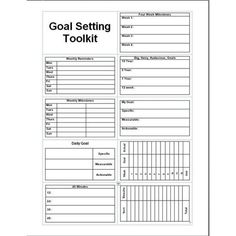 Daily planner template printable free goal setter setting toolkit goals and for life excel . best photos of life goals Life Plan Template, Goal Setting Template, Goals Template, Action Plan Template, Planner Template, The Plan, How To Plan, Goals Worksheet, Goal Setting Worksheet