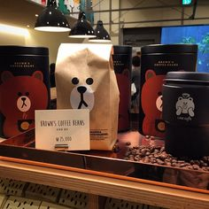 Imagem de coffee, korean cafe, and line friends Brown Aesthetic, Korean Aesthetic, Aesthetic Food, Cafe Bar, Coffee Shop Aesthetic, Eat This, Brown Coffee, Line Friends, Cafe Food