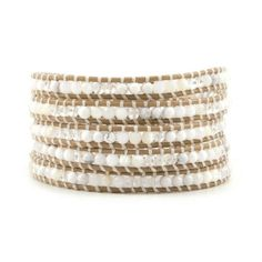 New vintage style friendship weaving leather wrap african jewelry natural stone handmade crystal bracelet adjusted size CL-387 ** Click on the image for additional details.