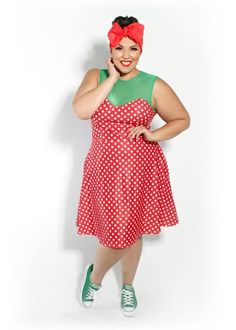 polka dotted dress by Domino Dollhouse