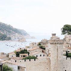 Tossa de Mar en Catalogne, espagne