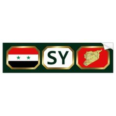 Shop Syria Flag Map Code Bumper Sticker created by FlagAndMap. Syria Flag, Car Sit, National Flag, Bumper Stickers, Flags, Adhesive, Banner, Coding, Map