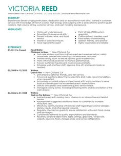 Resume Sample  Food Server   Dining Room Staff   Porter VisualCV