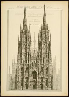 Historical Designs / Utopias / Monuments - Never built - Page 35 - SkyscraperCity New Classical Architecture, Cathedral Architecture, Architecture Concept Drawings, Renaissance Architecture, Classic Architecture, Gothic Architecture, Historical Architecture, Architecture Details, Liverpool Cathedral