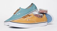 I have these colors in converse, canvas for summer♥♥ Vans Authentic Brushed Twill