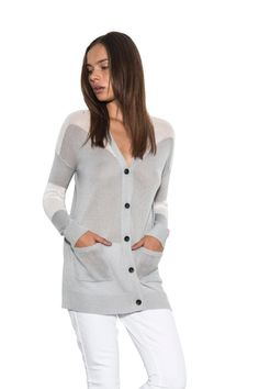 Women's Long #Sleeve Riley Color Block Classic #Knit #Cardigan #Spring