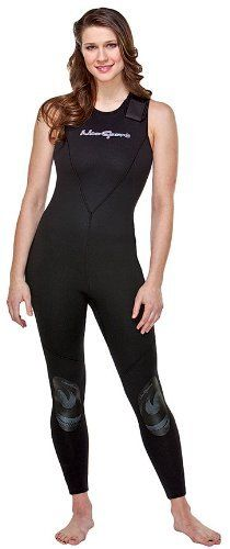 NeoSport Wetsuits Women's Premium Neoprene 7mm Jane,All Black, 6 - Diving…