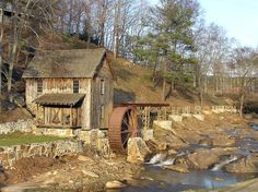 Sixes Mill, located near Sixes, Georgia ~ One of the earliest settlements in the state of Georgia. Georgia Homes, Georgia Usa, Canton Georgia, Old Grist Mill, Woodstock Ga, Amazing Places On Earth, Water Mill, Back Road, Old Barns