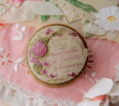 I should transfer my loose face powder into one of my pretty vintage face powder boxes - Susan