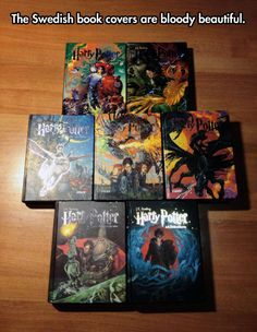 Beautiful Harry Potter covers