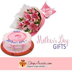 #Mother's_Day-Gifts.....Here is a special gift combo for #Your_Mother. Express your love to your dearest Ammi with this combo and #bring_smile_on_her_face. It includes #Pink _lilies with a mouthwatering #Mothers_Day_Cake from Sachas bakery.