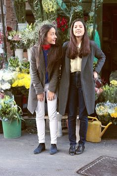 Rome street style by Serena Belcastro with @Anna Escobar  and Valentina from @American Apparel