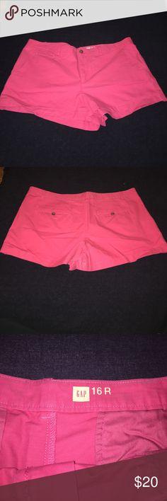 """NWOT Gap Pink Chino Shorts - 16 NWOT Gap chunk shorts in a great medium pink. 3"""" shorts, brand new! Size 16 GAP Shorts"""