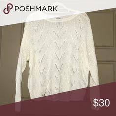 Jessica Simpson sweater Cream sweater with cutouts Jessica Simpson Sweaters