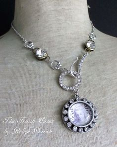 necklace  devoted  virgin mary portrait pendant by TheFrenchCircus