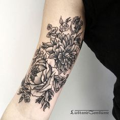 Peony and Dahlia for