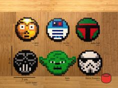 Star Wars Magnets made from Perler Beads by DJbits on Etsy