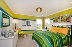 Young swimmer's dream bedroom    http://www.mihomes.com/Find-Your-New-Home/Indianapolis-Homes