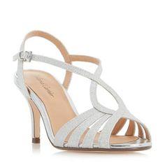 65512647717b Roland Cartier Silver  Mandarin  strappy mid heel sandals