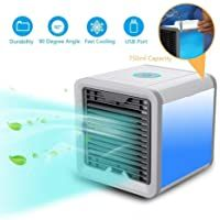 Usb Air Cooler Personal Space Air Coolers For Room Portable Mini Air Conditioner For Camping Car Small Humidifying Coo In 2020 Air Cooler Mini Cooler Portable Cooler