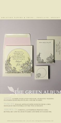 shine wedding invitation suite from the 2013 green album :: a portfolio of sustainable letterpress designed and printed in portland, oregon by oblation papers & press