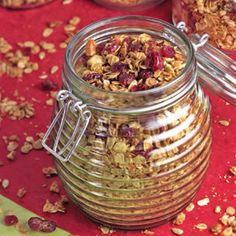 Cranberry-Almond Granola Recipe - http://recipes.millionhearts.hhs.gov/recipes/cranberry-almond-granola
