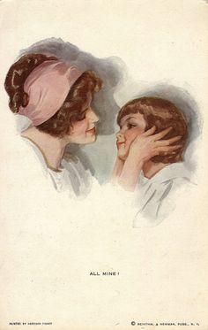 303. All mine! by Harrison Fisher (c.1912) | par pellethepoet