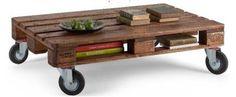 Pallet op wielen, gemakkelijk zelf te maken.