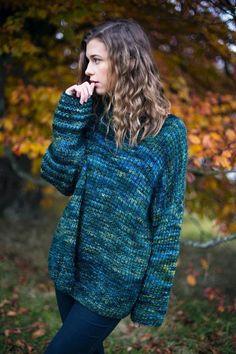 6406f7b9e3f98e Mystery Green Sweater-Free pattern Ribbed Sweater