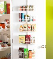 Use the back of a door to create instant pantry space.