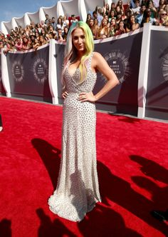 Kesha in Johanna Johnson at the VMA Awards 2014 http://www.graziadaily.co.uk/fashion/news/2014-vmas--see-all-the-best--and-worst--dressed-stars