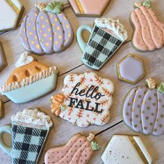 Sugar cookie heaven with these sweet fall cookies! Sugar cookie heaven with these sweet fall cookies! Kiss Cookies, Fall Cookies, Iced Cookies, Cute Cookies, Holiday Cookies, Cupcake Cookies, Horse Cookies, Summer Cookies, Cookie Favors