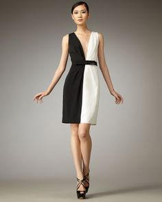 Daisy Two-Tone Dress by Robert Rodriguez Black Label