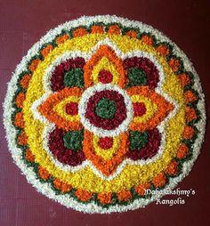Rangoli Designs Flower, Flower Rangoli, Kolam Designs, Flower Designs, Diwali Decorations, Flower Decorations, Free Hand Rangoli Design, Diwali Rangoli, Board Decoration