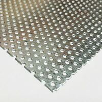 Perforated Metal Aluminum Sheet 125 1 8 Gauge 12 X 24 1 4 Hole 3 8 Stagger Perforated Metal Galvanized Sheet Galvanized Steel