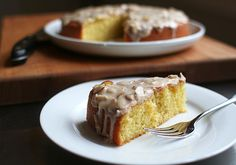 almond olive oil cake w/ brown butter lemon glaze [Lottie and Doof]