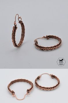 Hoops have character, personality, strength, and uniqueness that make it possible for every woman to create her very own look. Wire Wrapped Earrings, Hoop Earrings, Handmade Copper, Copper Jewelry, Wire Wrapping, Character Personality, Gifts For Her, Etsy Shop, Metal