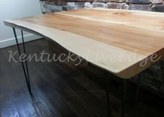 Natural Wood Dining Table-Live Edge Kitchen Table- Breakfast Table- Organic…