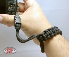 Paracord Survival P&S Camera Wrist Strap Cobra Weave | Paracord and Survival