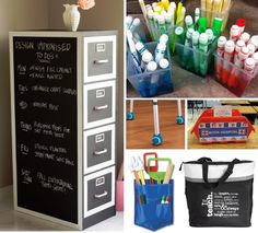 I have a can of chalkboard paint (.50 from a garage sale) just itching for a project!!