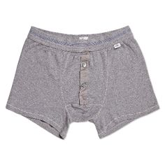 Schiesser  Grey Karl Heinz Boxers: Experts in casual comfort, Schiesser are the go to brand for beautifully made, luxurious loungewear for Men and Women.   - Classic slim cut  - Genuine mother of pearl buttons  - Elasticated waistband with blue stitch detailing