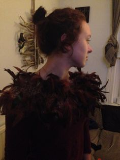 Feathered dress
