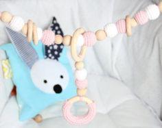 NEUE Gehäkelte Baby-Kinderwagen-Kette / von ZanesCrochetTreasure
